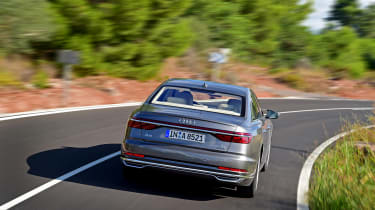 The rear end, meanwhile, wears a band of OLED rear lamps that present a welcome ceremony when you unlock the car