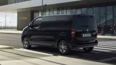 Peugeot e-Traveller driving at airport