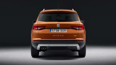 The horizontal lines across the rear emphasise the car's width
