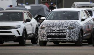 Vauxhall Grandland spy shot - front end