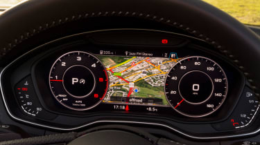 Virtual Cockpit provides lots of information to the driver, including sat nav and trip information
