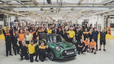 MINI 60th anniversary plant oxford inside