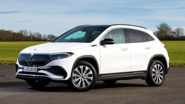 Mercedes EQA SUV review front 3/4 static