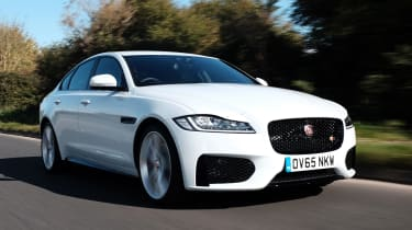 The second-generation Jaguar XF is an executive saloon car which is spacious and good to drive
