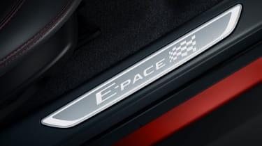 Jaguar E-Pace Chequered Flag threshold plates