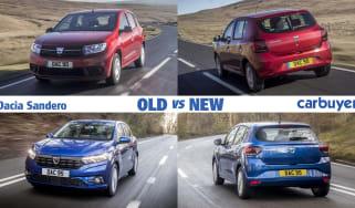 Dacia Sandero old vs new header