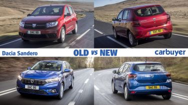 Dacia Sandero old vs new header