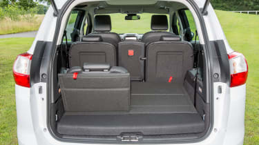 The rearmost seats are easy to put up and down, folding flat into the boot floor when stowed away