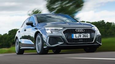 Audi A3 Sportback hatchback front 3/4 tracking