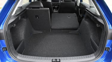 Skoda Scala hatchback boot split folding seats