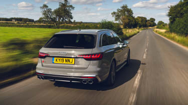 Audi S4 Avant estate rear tracking