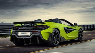 McLaren 600LT Spider convertible rear static