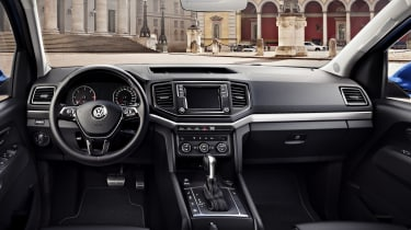 The Amarok's smart dashboard will be familiar to anyone who's driven a VW car