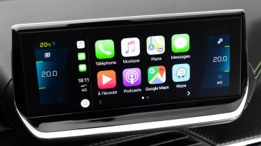 Peugeot e-208 hatchback Apple CarPlay