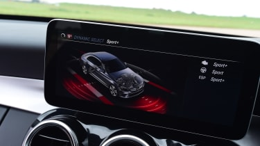 Mercedes C-Class saloon infotainment screen