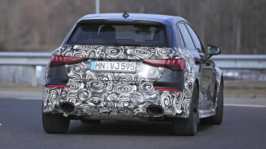 2021 Audi RS3 prototype rear view