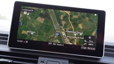 Audi Q5 S line MMI map interface