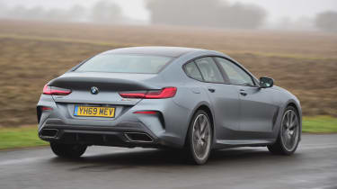 BMW 8 Series Gran Coupe saloon rear cornering