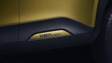 Toyota Yaris Cross SUV - side badging close up