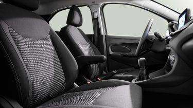 Ford Ka+ hatchback front seats
