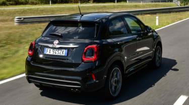 Fiat 500X Sport - Rear 3/4 view dynamic