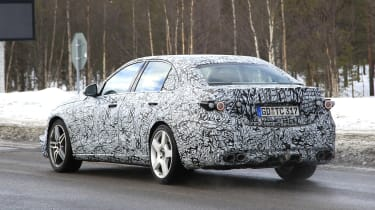 Mercedes-AMG C43 spotted testing - rear view