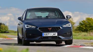 Cupra Leon hatchback front dynamic