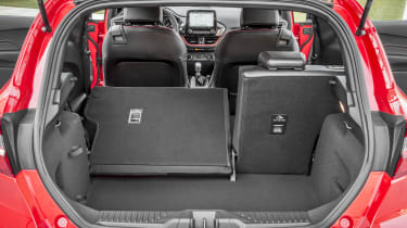 Ford Fiesta hatchback boot left seat folded