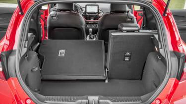 Ford Fiesta hatchback boot left seat folded