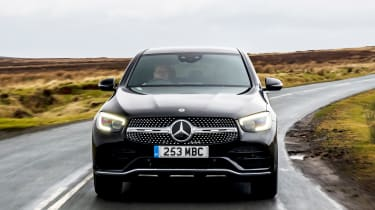 Mercedes GLC Coupe SUV front tracking
