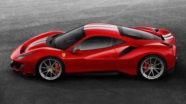 Ferrari 488 Pista side