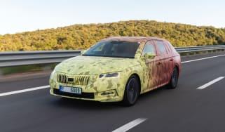 2020 Skoda Octavia Estate driving - camouflaged