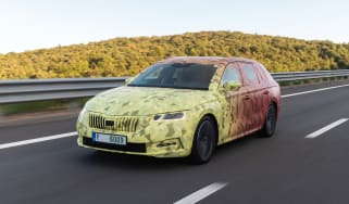 2020 Skoda Octavia Estate driving - camouflaged