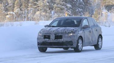 2021 Dacia Sandero winter testing - front dynamic 3/4