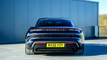 Porsche Taycan saloon rear static