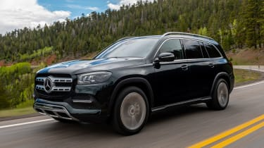 Mercedes GLS SUV front 3/4 tracking