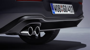 2020 Volkswagen Golf GTD - rear diffuser and exhaust