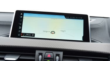 BMW X2 SUV infotainment display