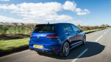 This means it can rocket from 0-62mph in just 4.6 seconds - almost two seconds faster than a Golf GTI
