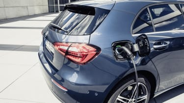 Mercedes A250e charging point