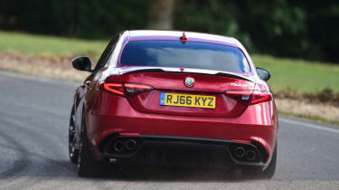 Alfa Romeo Giulia Quadrifoglio saloon rear tracking