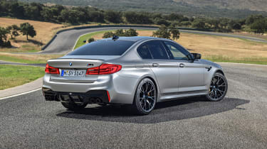 BMW M5 Competition - rear 3/4 dynamic