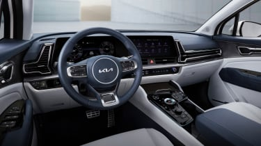 2021 Kia Sportage - interior 3/4 view