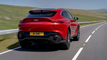 Aston Martin DBX SUV rear tracking