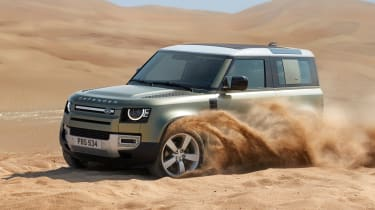Land Rover Defender in the desert