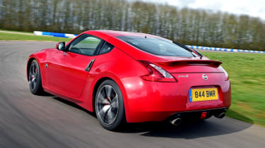 Nissan 370Z coupe rear 3/4 cornering