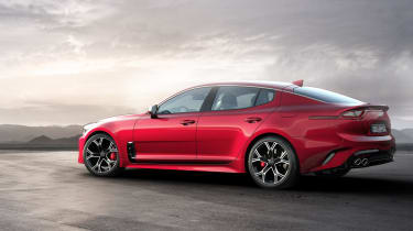 Pick the Stinger GT and you'll get a 360bhp 3.3-litre petrol engine, complete with a brace of turbochargers