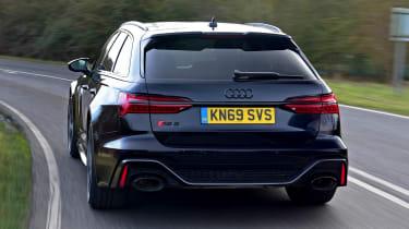 Audi RS6 Avant estate rear tracking
