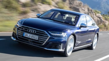 Audi S8 saloon front tracking