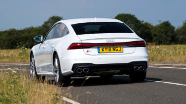 Audi S7 hatchback rear cornering